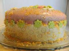 gâteau génoise et crème pâtissière boite à bijoux