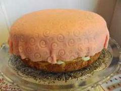 gâteau génoise et crème pâtissière boite à bijou