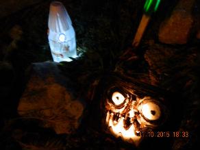 decor halloween avec recup