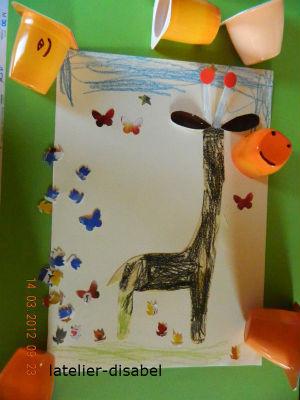 girafe 1 activité manuelle