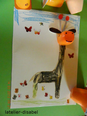 girafe 2 activité manuelle